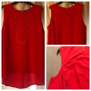 NWT Vince Camuto Cold-shoulder blouse, size XL